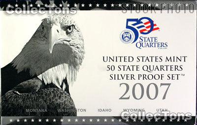 2007 SILVER QUARTER PROOF SET OGP Replacement Box and COA