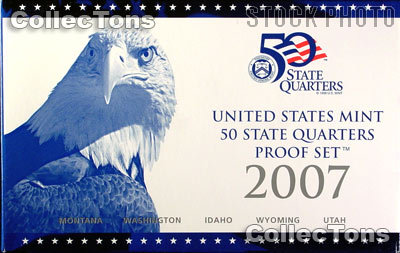 2007 U.S. Mint QUARTER Proof Set OGP Replacement Box and COA