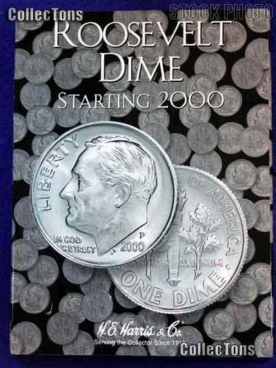 Harris Roosevelt Dimes 2000-Date Coin Folder 2941