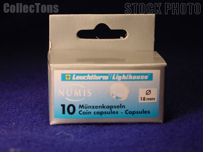 10 Lighthouse Coin Capsules for 18mm Coins US DIME