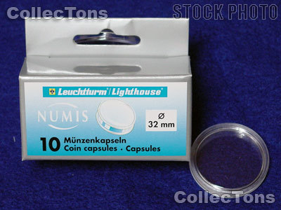 10 Lighthouse Coin Capsules for 32mm Coins 1 Oz China Panda Gold