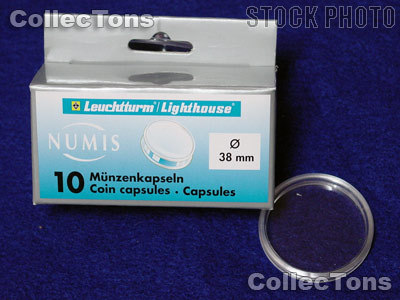 10 Lighthouse Coin Capsules for 38mm Coins US LARGE DOLLAR