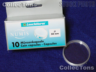 10 Lighthouse Coin Capsules for 50mm Coins or Medals