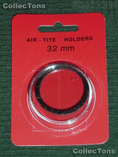 "Air-Tite Coin Capsule ""H"" Black Ring Coin Holder for 32mm Coins"