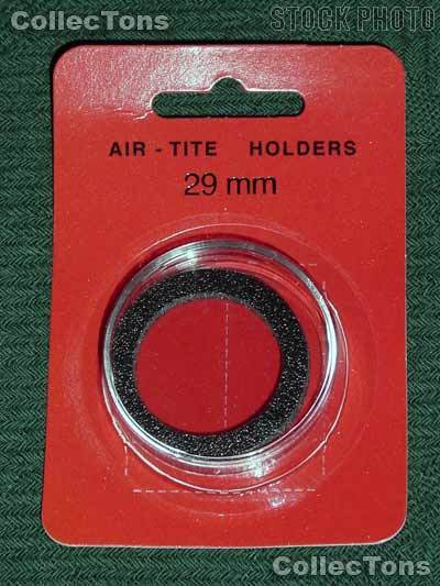 "Air-Tite Coin Capsule ""H"" Black Ring Coin Holder for 29mm Coins"