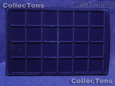 """Lighthouse Velvet Coin Trays 1-3/4"""" Holders TAB 24 Blue"""