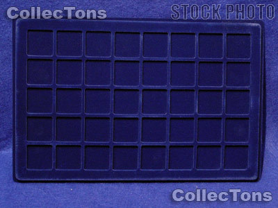 """Lighthouse Velvet Coin Trays 1-1/3"""" Holders TAB 40 Blue"""