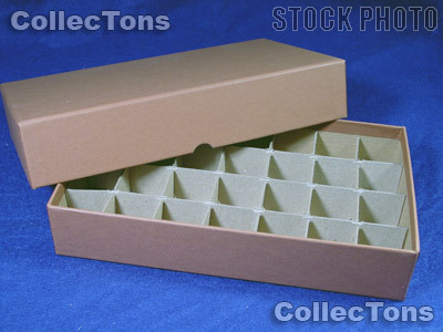 Coin Roll Box for 28 Rolls or Tubes of HALF DOLLARS