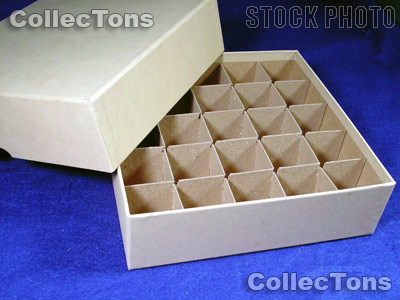 Coin Roll Box for 25 Rolls or Tubes of LARGE DOLLARS