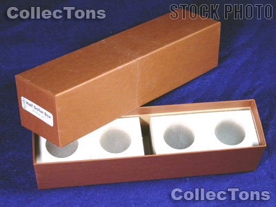 Single Row Storage Box & 100 2x2 Holders HALF DOLLARS