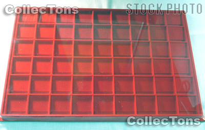Horizontal Coin Tray for 1.5x1.5 Coin Holders in Red