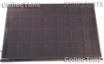 Horizontal Coin Tray for 2x2 Coin Holders in Black