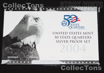 2004 SILVER QUARTER PROOF SET OGP Replacement Box and COA