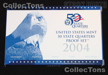 2004 U.S. Mint QUARTER Proof Set OGP Replacement Box and COA
