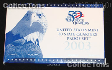 2003 U.S. Mint QUARTER Proof Set OGP Replacement Box and COA