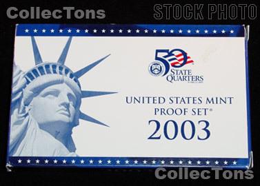 2003 U.S. Mint Proof Set OGP Replacement Box and COA