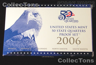 2006 U.S. Mint QUARTER Proof Set OGP Replacement Box and COA