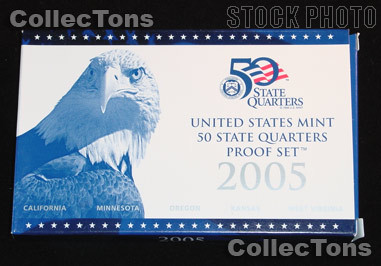 2005 U.S. Mint QUARTER Proof Set OGP Replacement Box and COA