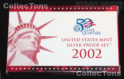 2002 U.S. Mint SILVER PROOF SET - 10 Coins