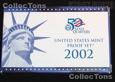 2002 U.S. Mint Proof Set OGP Replacement Box and COA