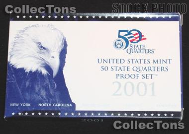 2001 U.S. Mint QUARTER Proof Set OGP Replacement Box and COA