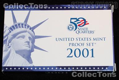 2001 U.S. Mint Proof Set OGP Replacement Box and COA