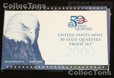 2000 U.S. Mint QUARTER Proof Set OGP Replacement Box and COA