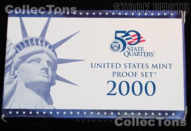 2000 U.S. Mint Proof Set OGP Replacement Box and COA