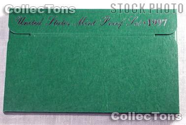 1997 U.S. Mint Proof Set OGP Replacement Box and COA