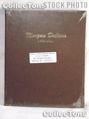Dansco Morgan Silver Dollars 1878-1890 Album #7178