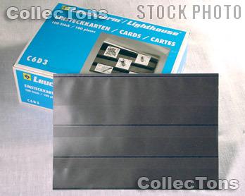 100 Lighthouse Approval Cards 3-Strip Cardboard EKC6D/3S
