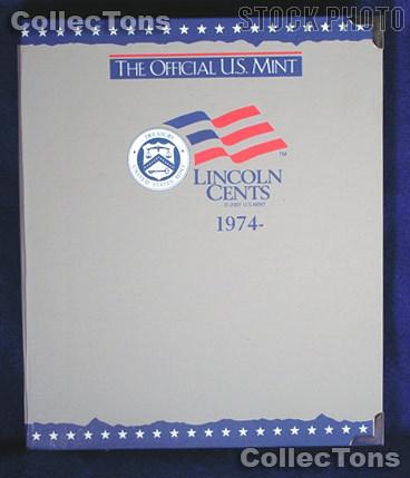 U.S. Mint Lincoln Cents 1974-2002 Album #1745