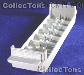 Color-Coded Plastic Coin Roll Tray 8 SMALL DOLLAR Rolls
