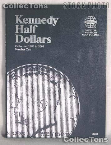 Whitman Kennedy Half Dollars 1986-2003 Folder 9698