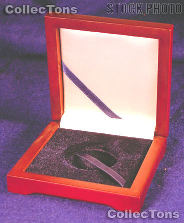 """Wooden Coin Box for 1 Air-Tite """"H"""" Capsule Holder"""