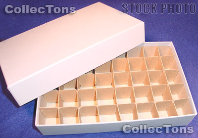 Coin Roll Box for 40 Rolls or Tubes of SMALL DOLLARS