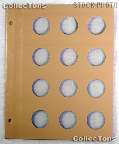 Dansco Blank Album Page for 32mm Coins
