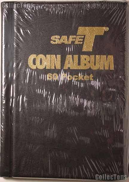 SafeT 60 Pocket Coin Stock Book Album for 2x2 Holders