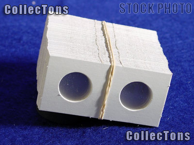 100 1.5x1.5 Cardboard Coin Holders CENTS