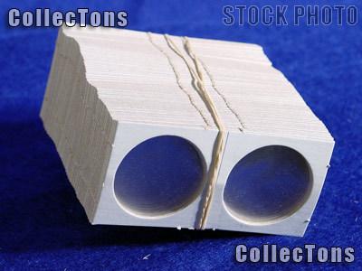 100 1.5x1.5 Cardboard Coin Holders HALF DOLLARS