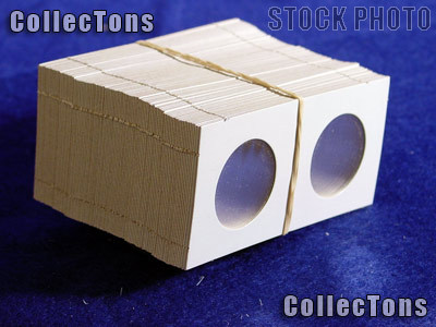 1,000 2x2 Cardboard Coin Holders  HALF DOLLARS