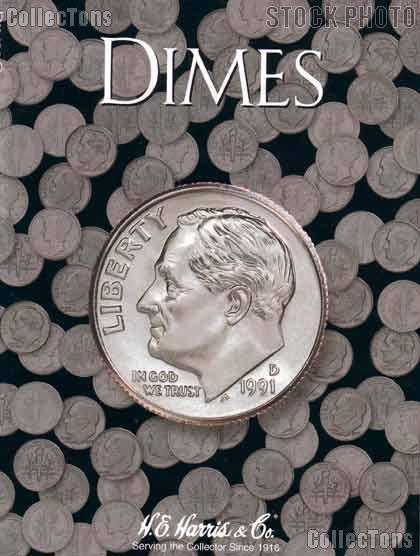 Harris Blank Coin Folder for Dimes  2686