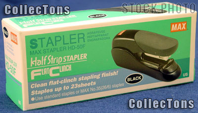 Flat Clinch Stapler Small Desktop by MAX for No.35 Staples