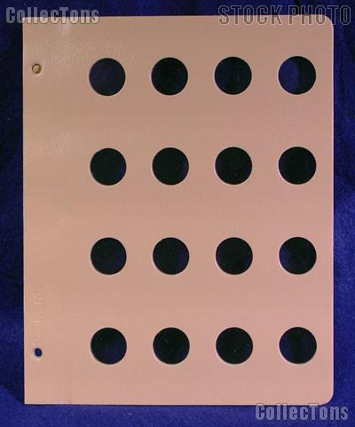 Dansco Blank Album Page for 23mm Coins