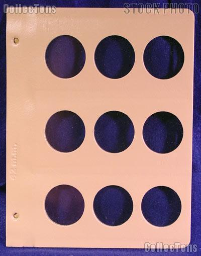 Dansco Blank Album Page for 42mm Coins