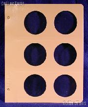 Dansco Blank Album Page for 55mm Coins