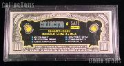 Collector Safe Snap-Lock Large Currency Bill Holder