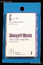 Showgard Pre-Cut Black Stamp Mounts Size C50/31