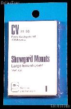Showgard Pre-Cut Black Stamp Mounts Size CV31/50