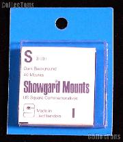 Showgard Pre-Cut Black Stamp Mounts Size S31/31